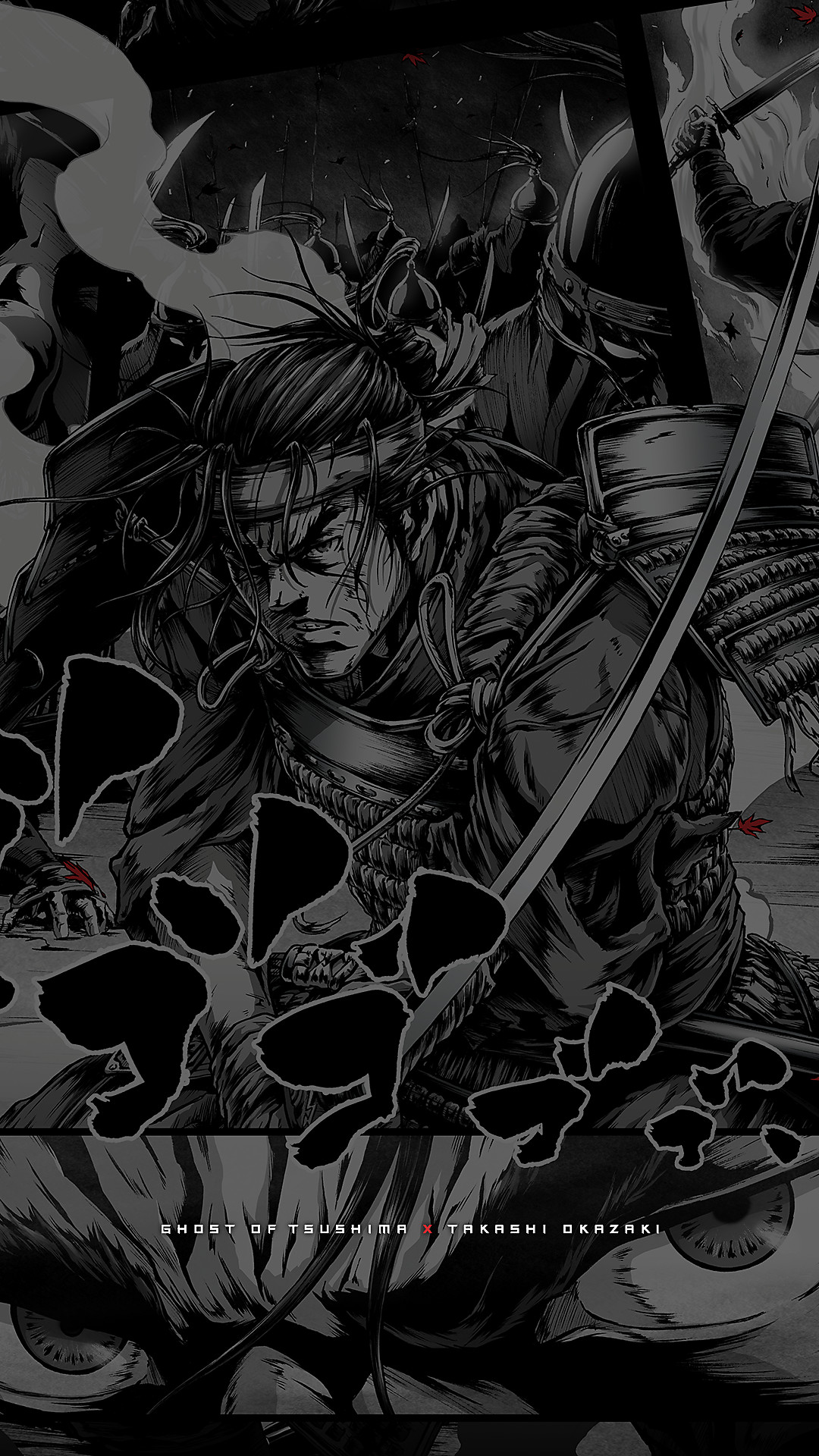 ghost of tsushima manga wallpaper 3