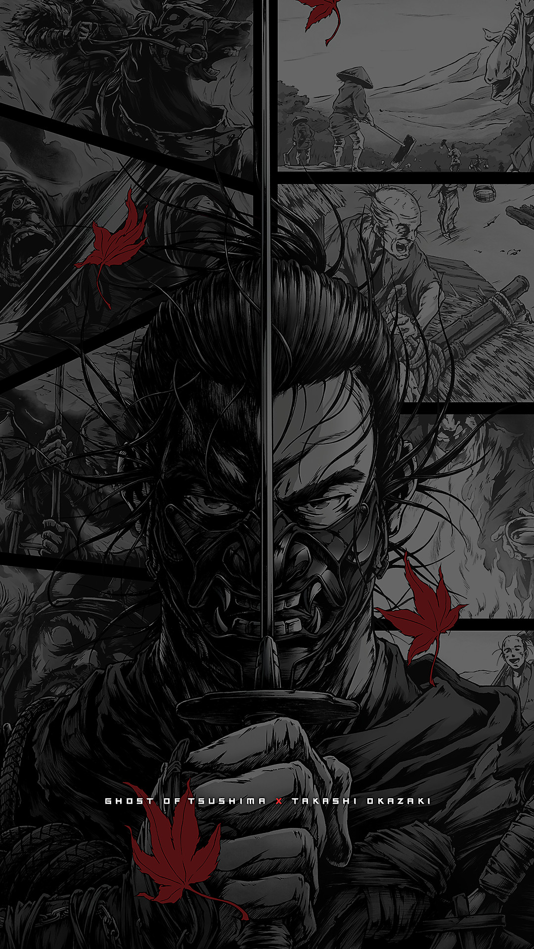 ghost of tsushima manga wallpaper 1