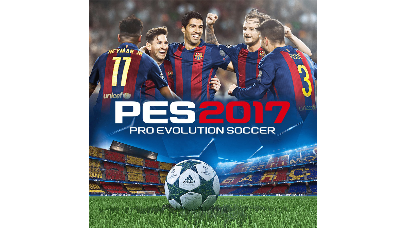 Pro Evolution Soccer 2017 Game Ps3 Playstation Bola Sepak Adidas Champions