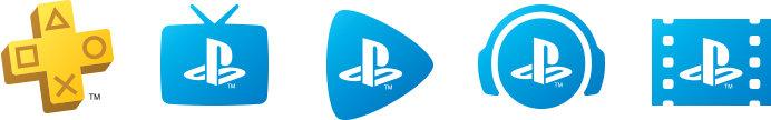 PlayStation Plus, PlayStation Vue, PlayStation Now, PlayStation Music, PlayStation Video