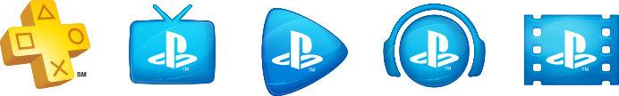 PlayStation Plus, PlayStation Vue, PlayStation Now, PlayStation Music, PlayStation Video