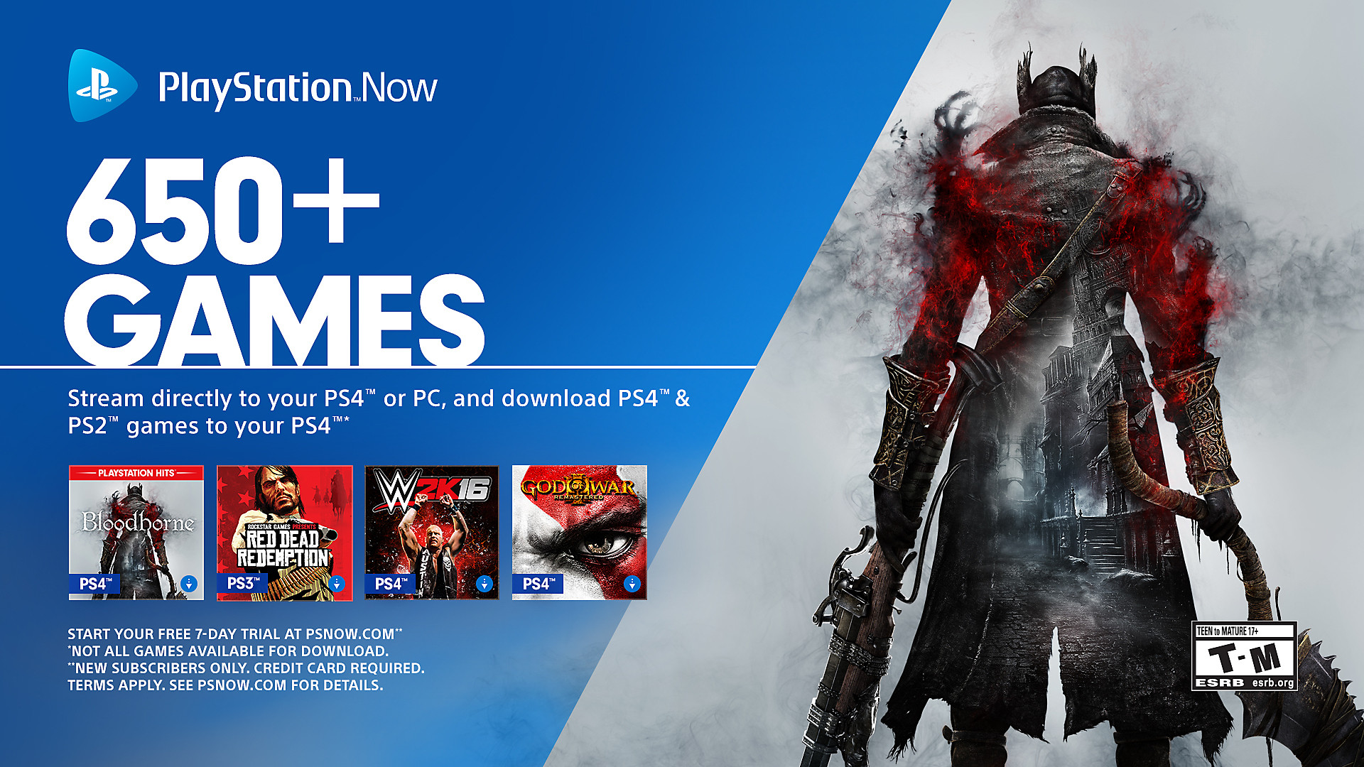 PS Now 650 Games