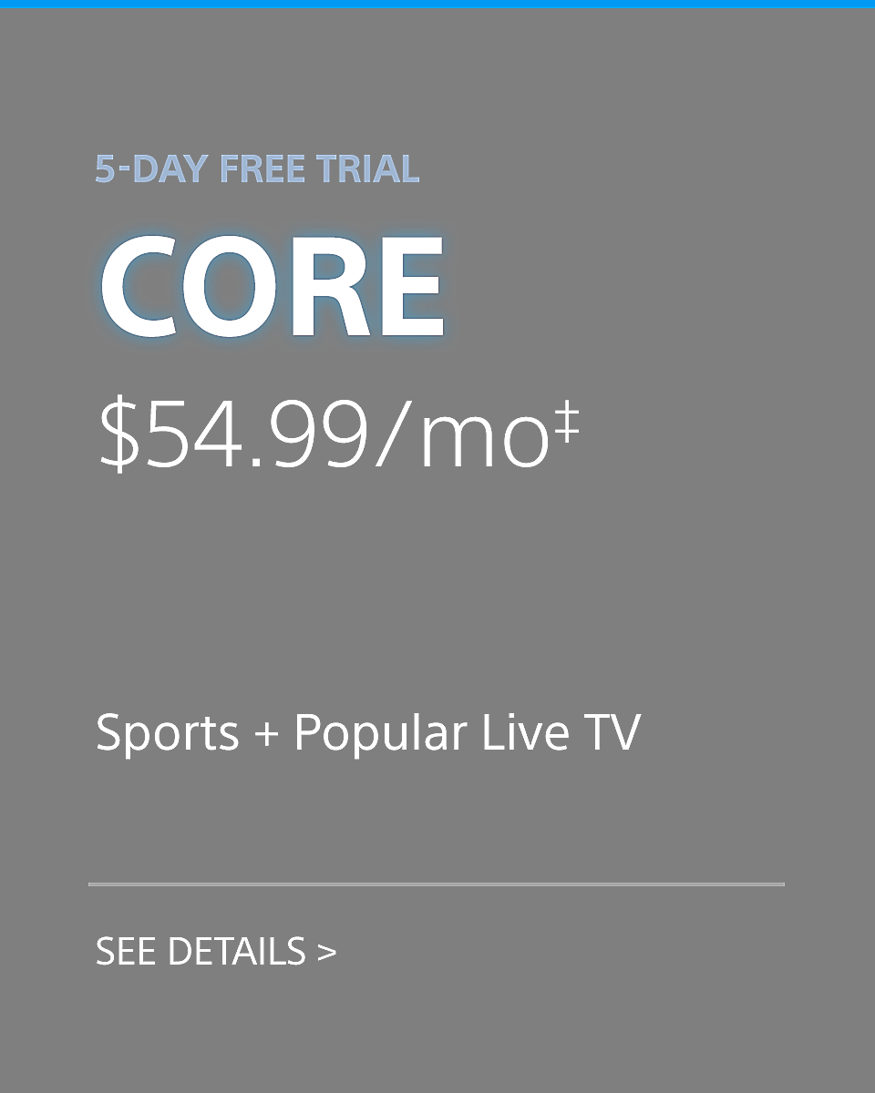 Playstation Vue - Core Plan