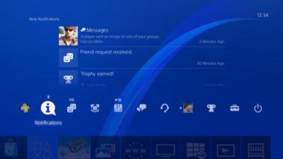 Dashboard screen - PS4