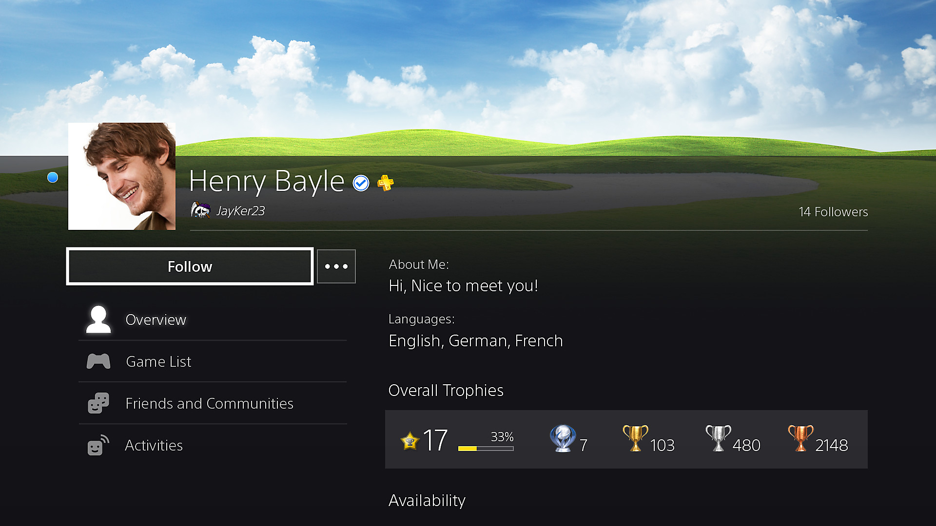 PlayStation Network profile