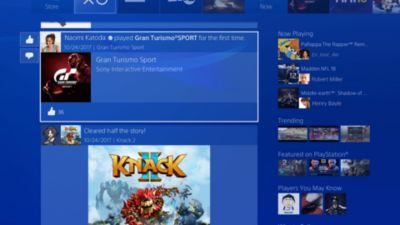 What's New screen - PS4
