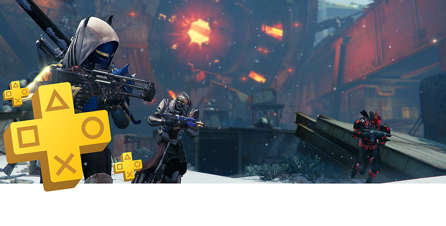 PlayStation Plus banner art featuring Destiny