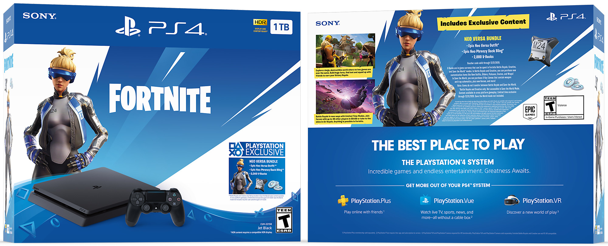 Fortnite Neo Versa Playstation4 Bundle Ps4 Playstation