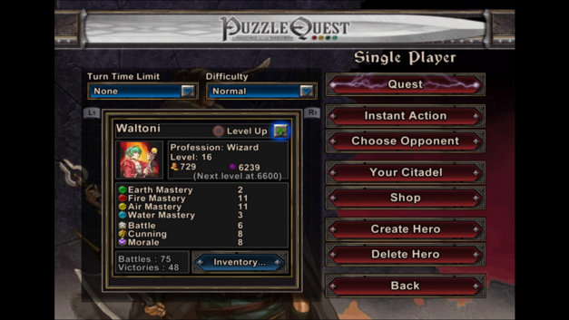 Puzzle Quest: Challenge of the Warlords™ Screenshot 4