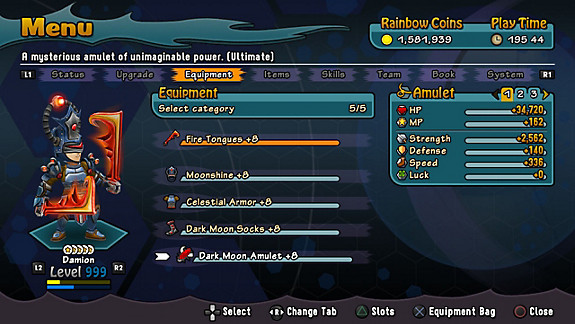 Rainbow Skies (PS Vita) - Screenshot INDEX