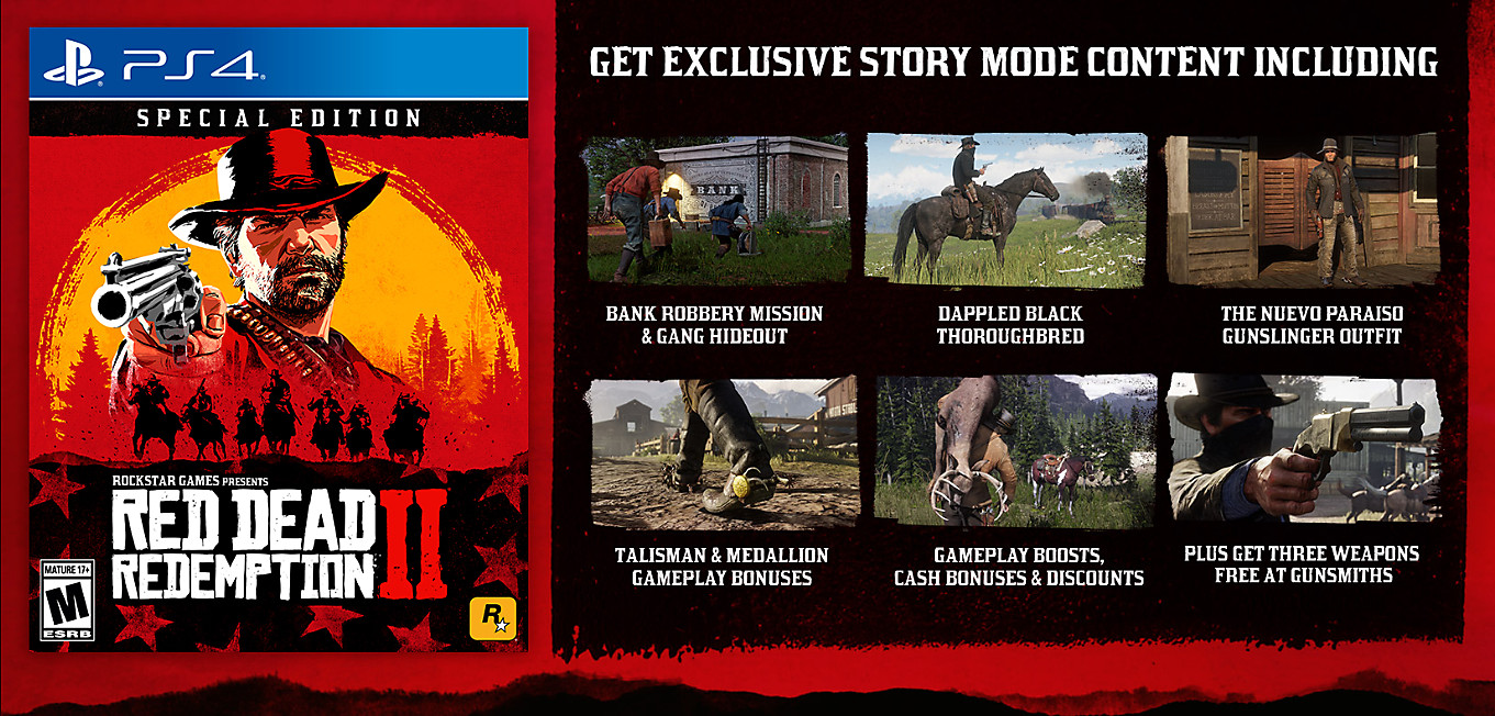 Red Dead Redemption 2 Special Edition Contents
