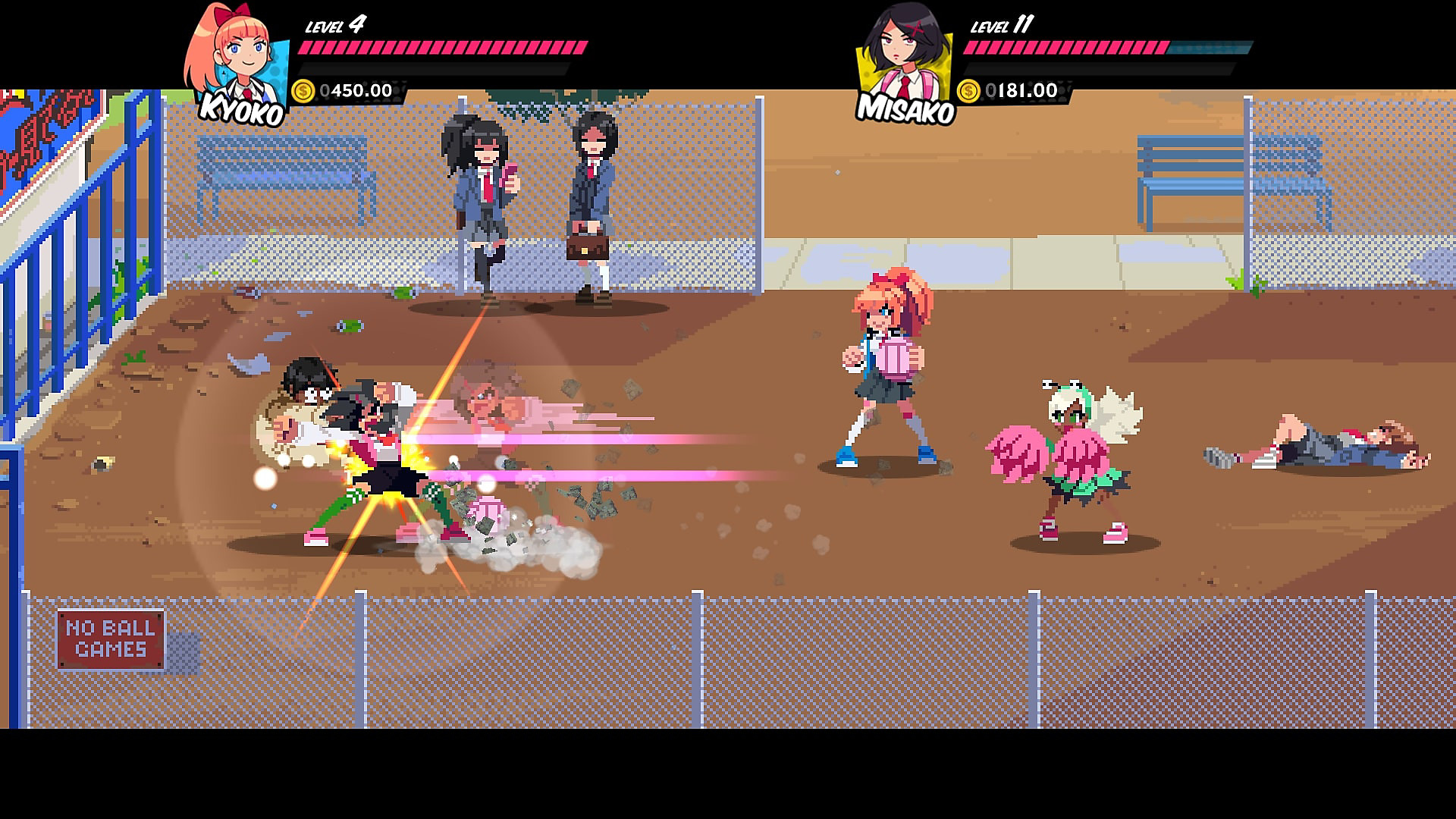 Combate escolar en River City Girls