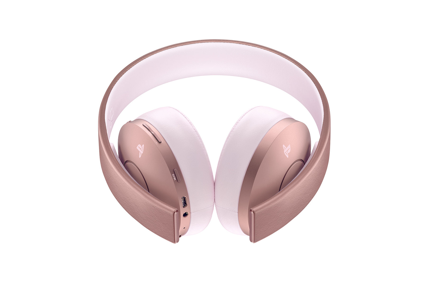 Gold Wireless Stereo Headset Playstation Audio Communications
