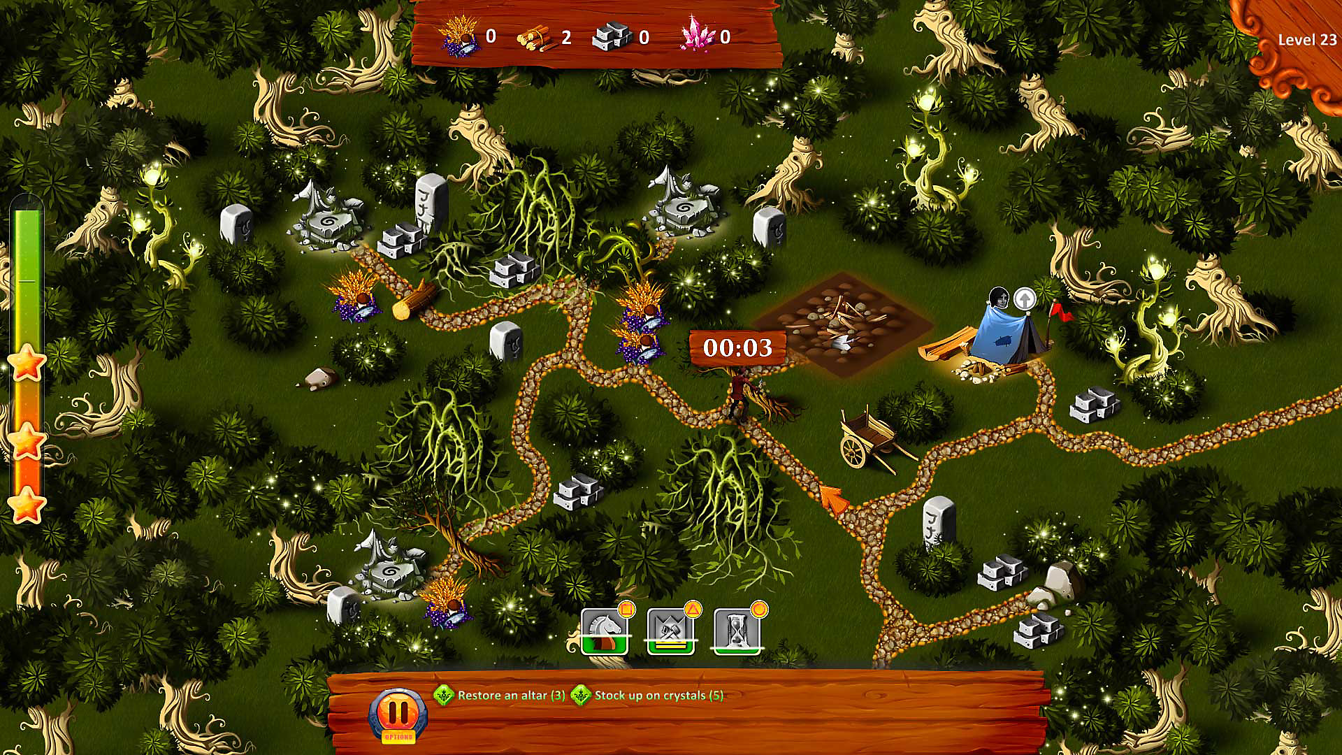 Gameplay de Royal Roads