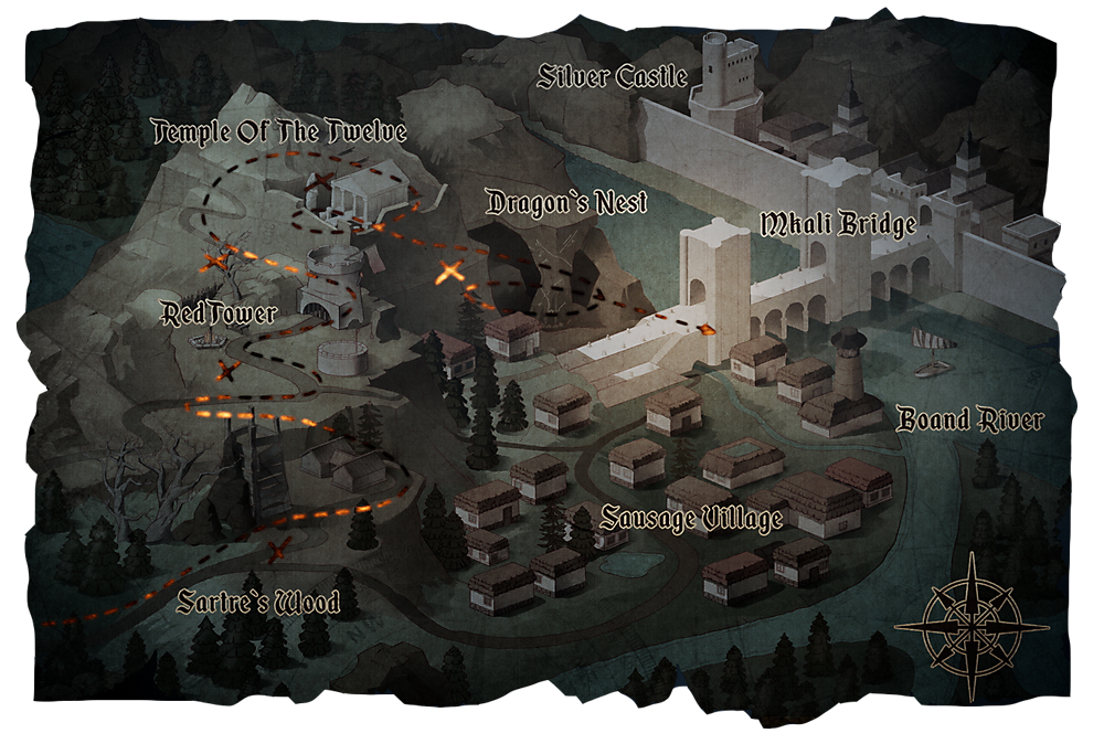 SACRALITH: The Archer's Tale: mapa