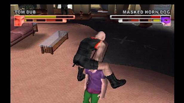Backyard Wrestling: Don't Try This At Home Screenshot 2 - Backyard Wrestling: Don't Try This At Home Game PS2 - PlayStation