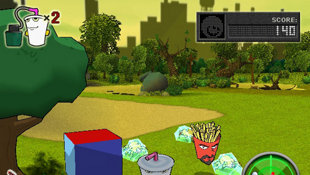 Aqua Teen Hunger Force Zombie Ninja Pro-Am Screenshot 2