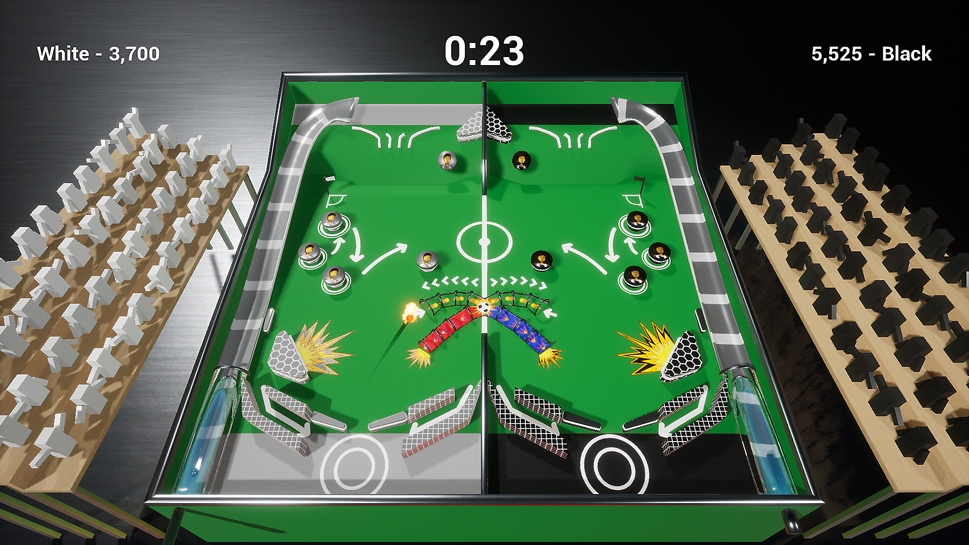 Soccer Pinball in action.