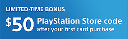 Sony Rewards - PlayStation Card Bonus