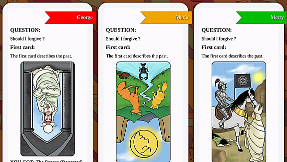 Tarot Readings Premium - Screenshot INDEX
