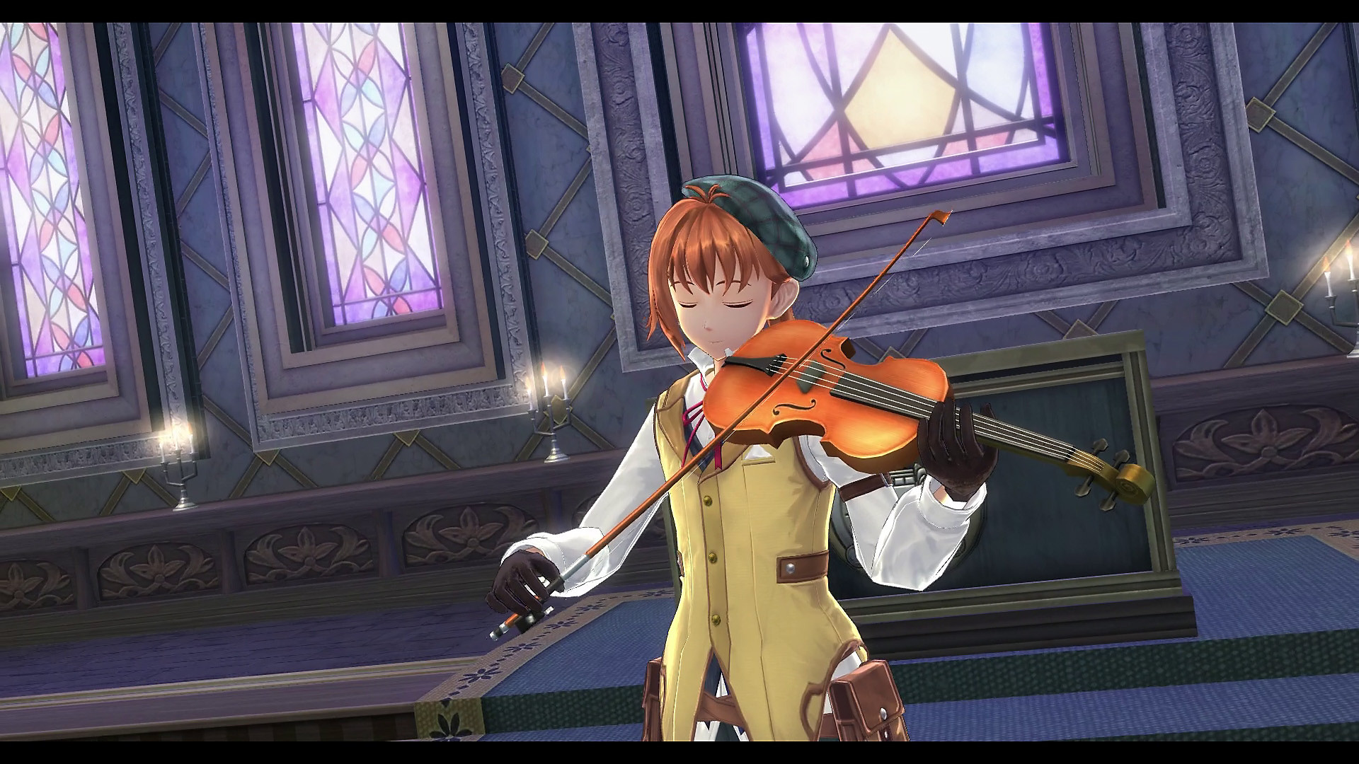 Character Playing a Violin