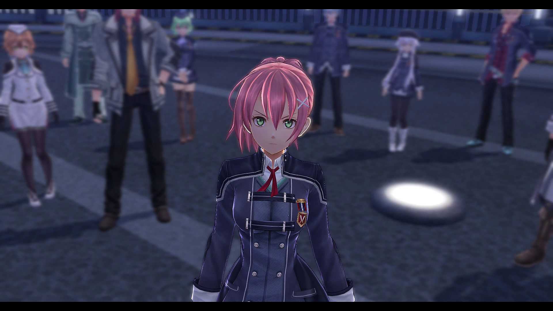 Pink-Haired Character Stares into the Camera