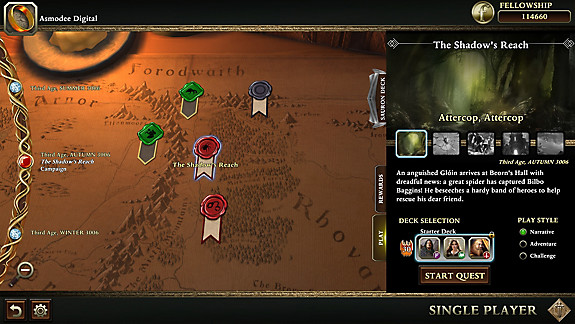 The Lord of the Rings: Adventure Card Game - Screenshot INDEX