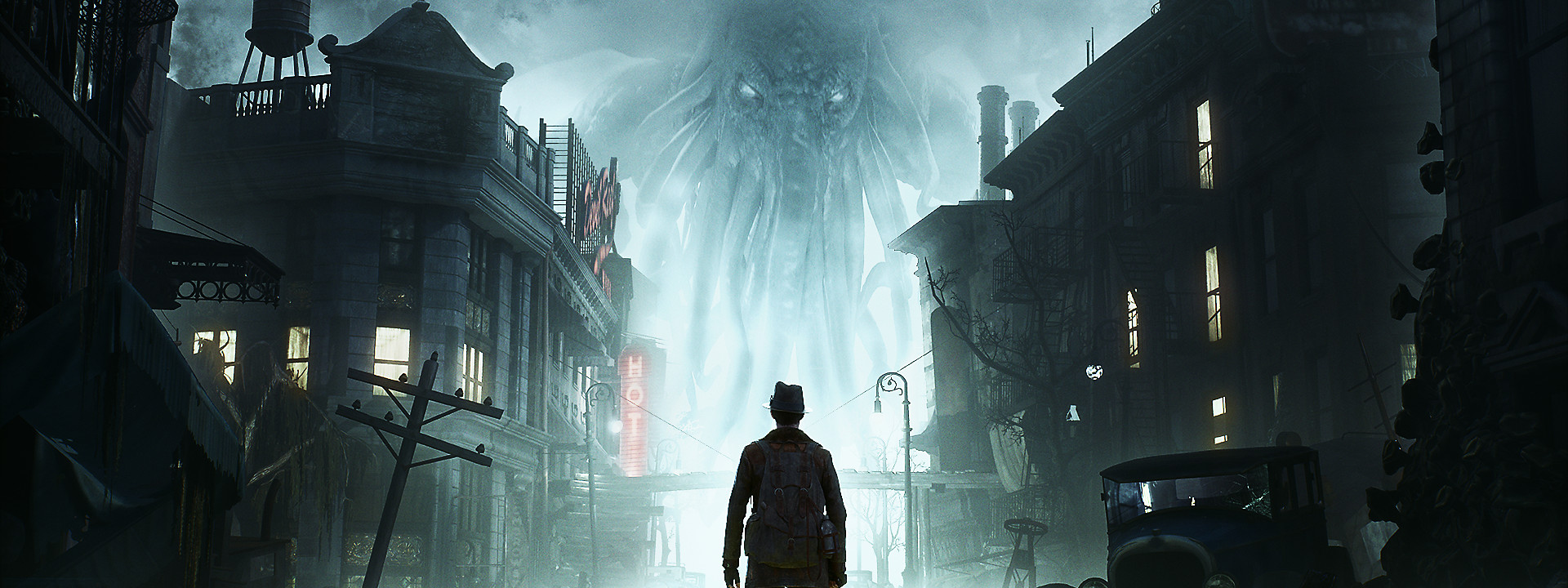 Fondo con el héroe de The Sinking City