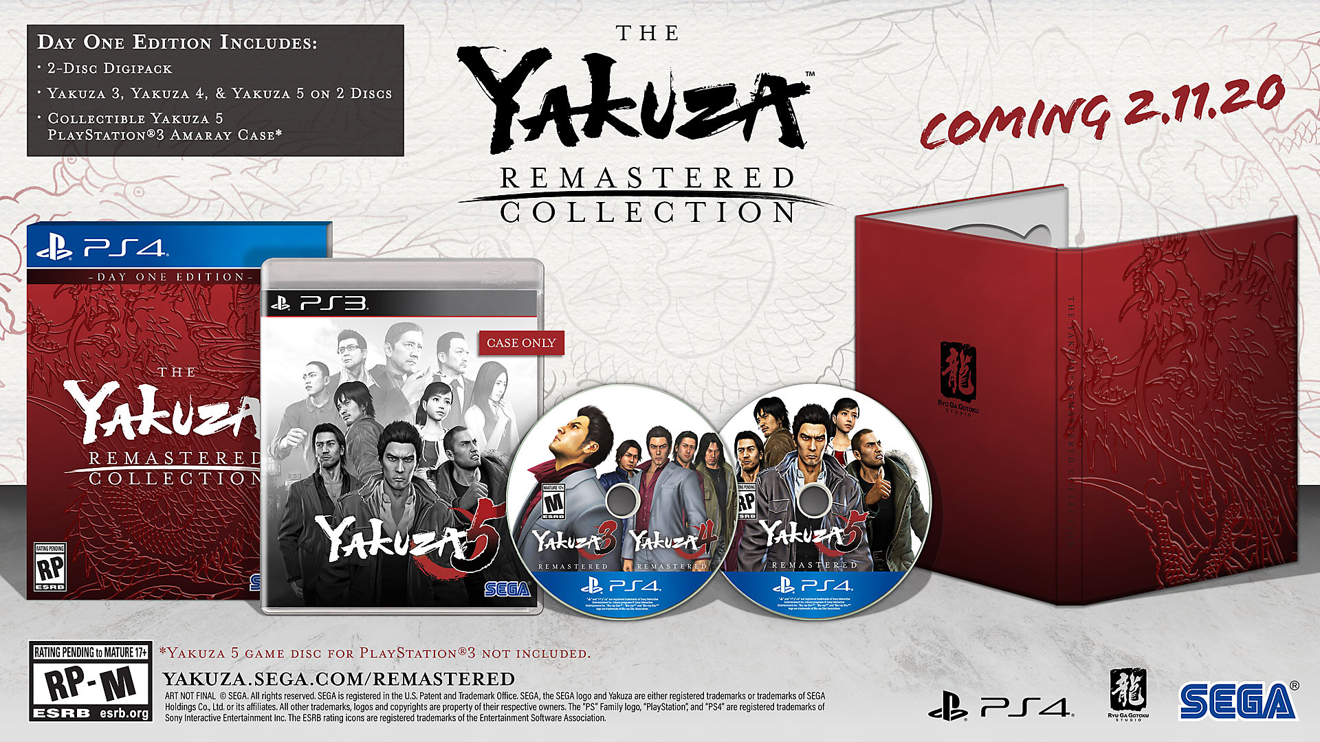 The Yakuza Remastered Collection: edición física Day One