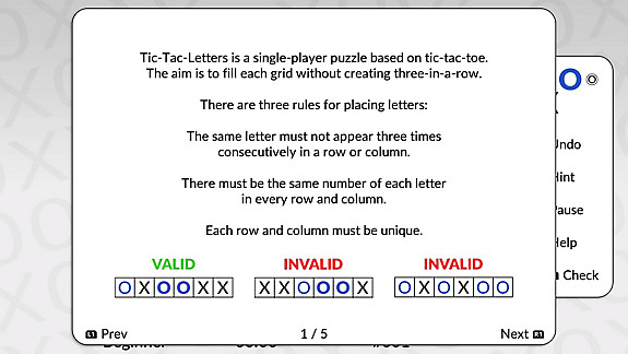 Tic-Tac-Letters by POWGI - Screenshot INDEX