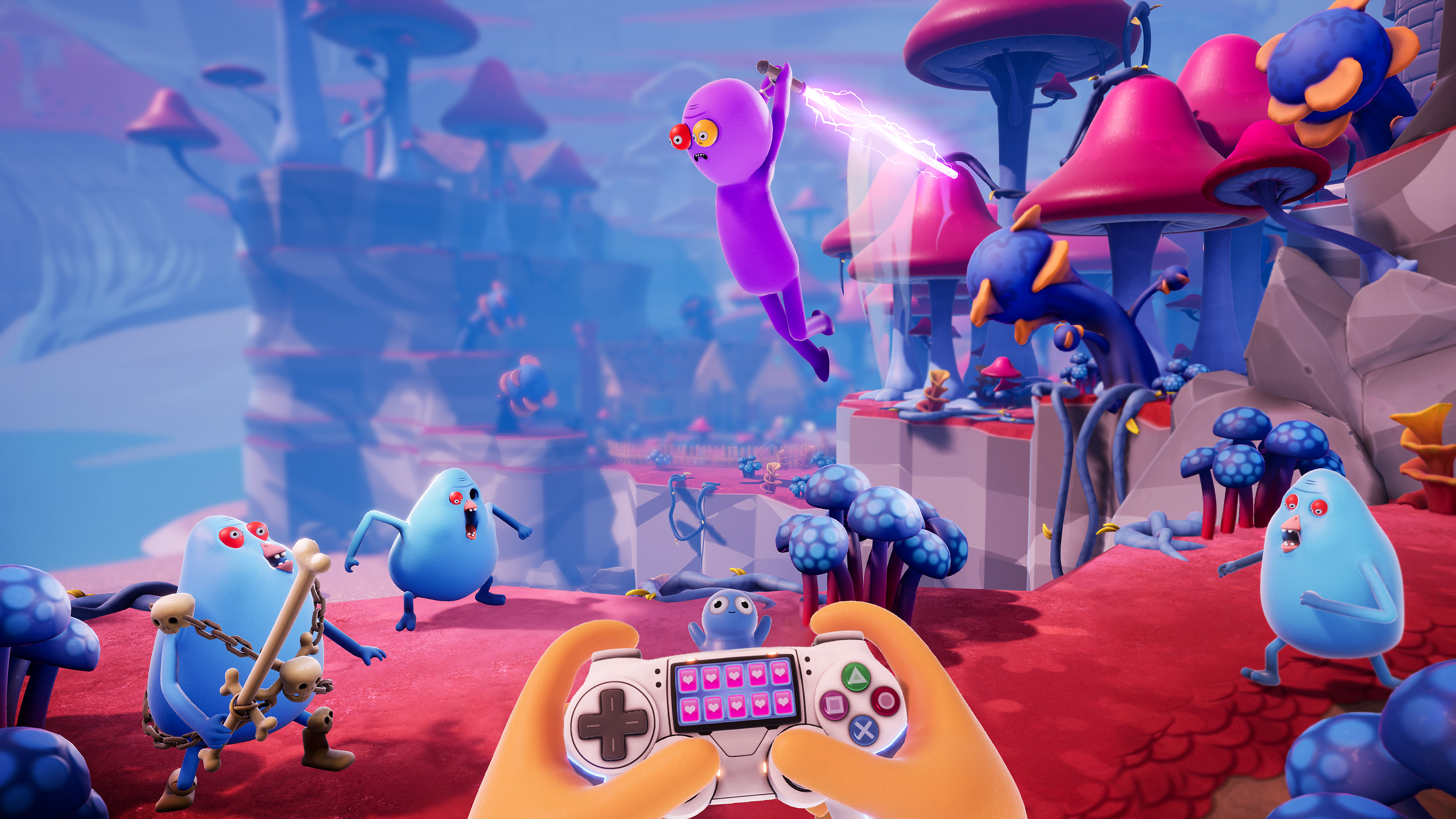 Captura de pantalla de Trover Saves the Universe - Trover se sumerge en la acción