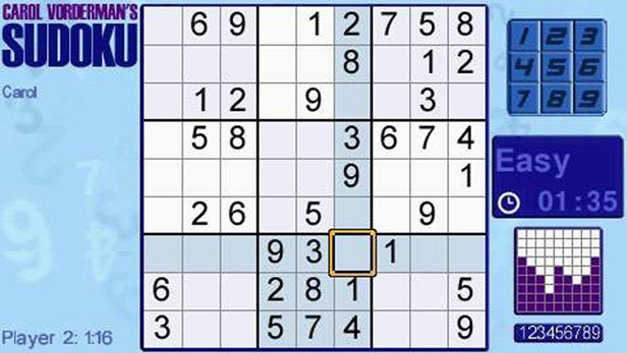 Carol Vorderman's Sudoku Screenshot 1