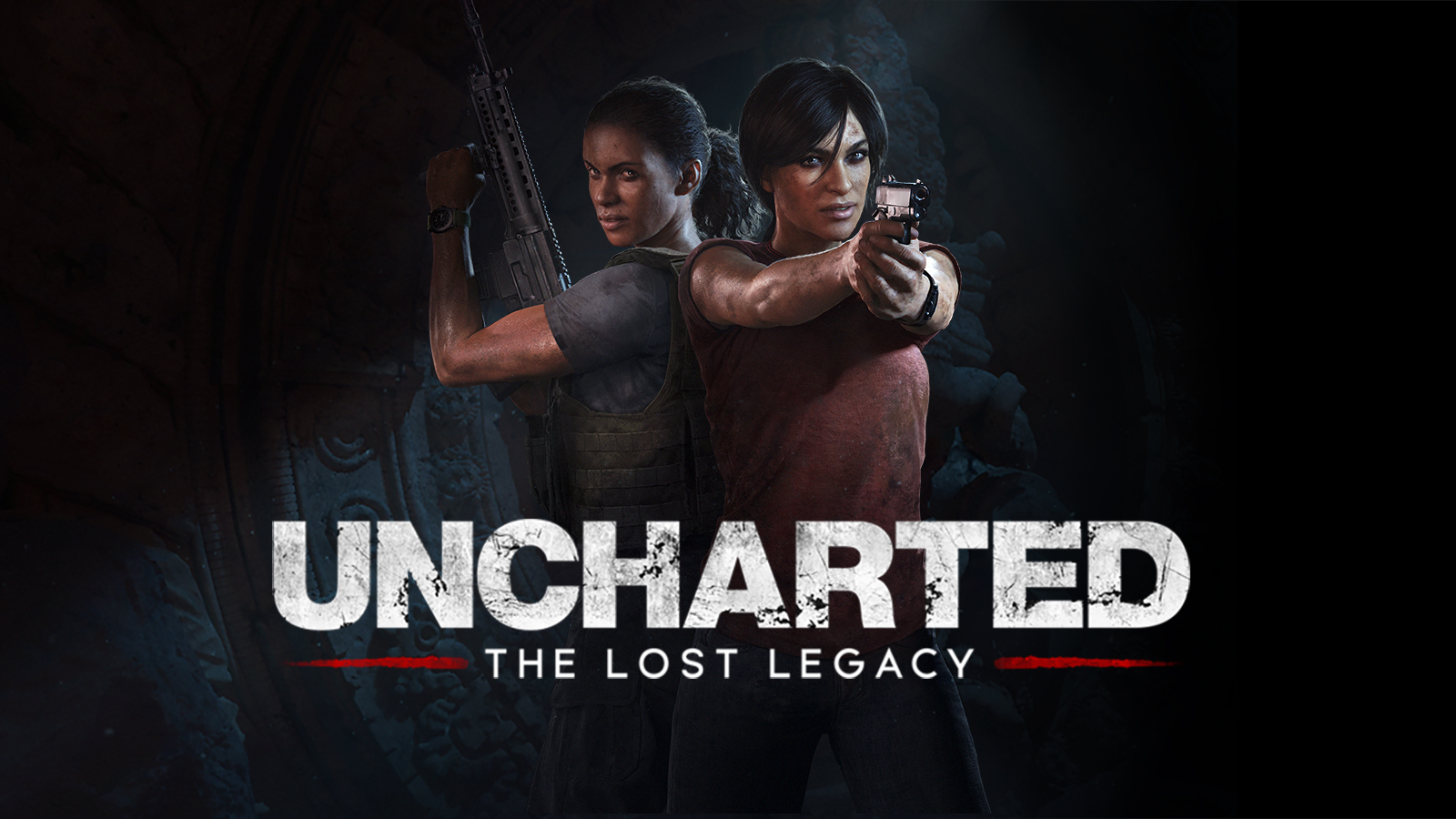 Poster de Uncharted com as personagens Chloe Frazer e Nadine Ross