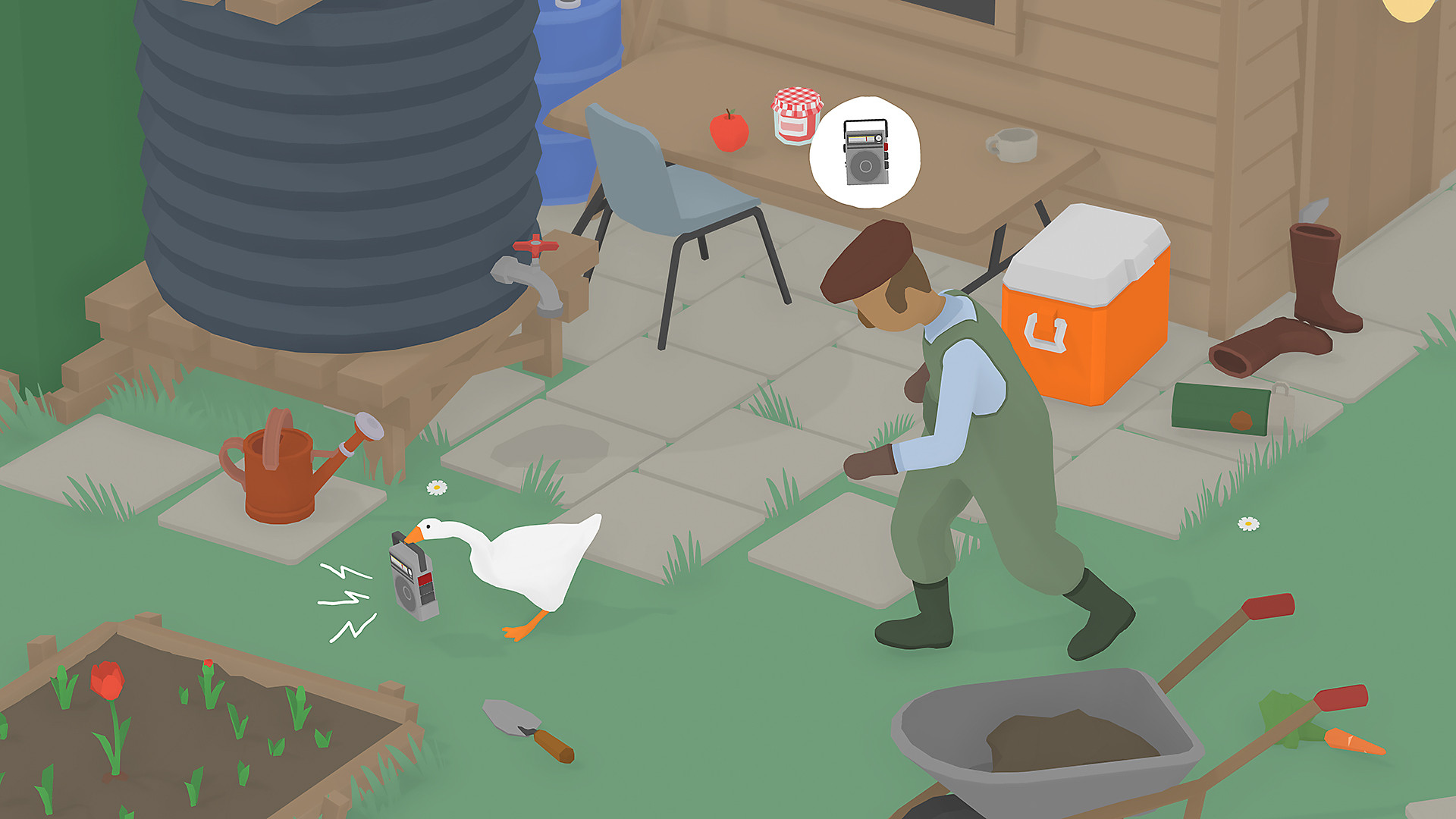 Untitled Goose Game in Action
