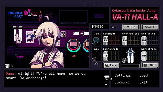 VA-11 Hall-A: Cyberpunk Bartender Action - Screenshot INDEX
