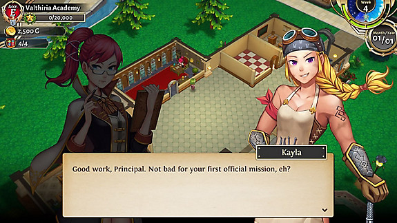 Valthirian Arc: Hero School Story - Screenshot INDEX