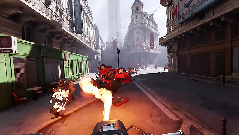 Gameplay en realidad virtual de Wolfenstein: Cyberpilot