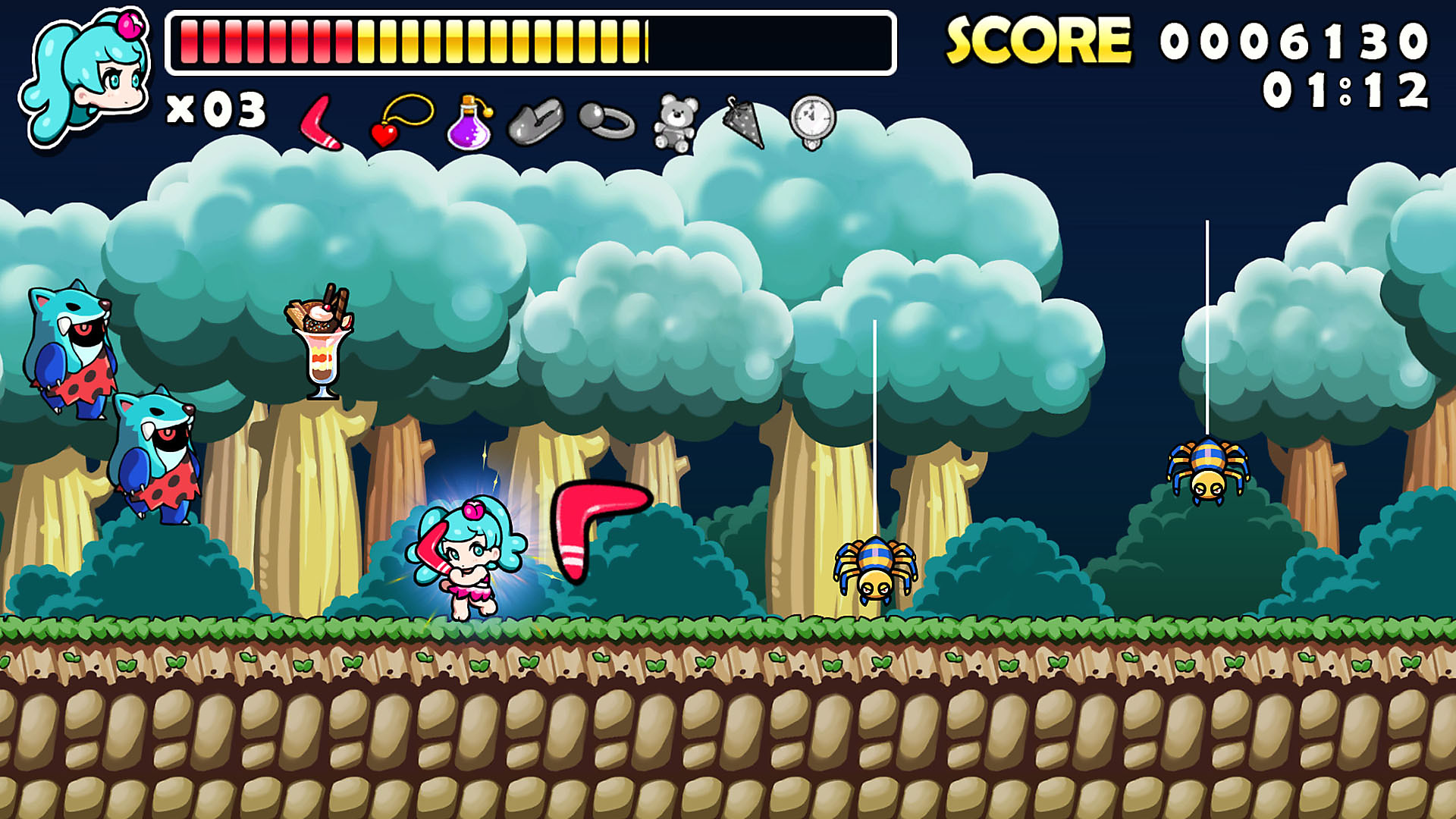 Gameplay de WONDER BOY RETURNS REMIX