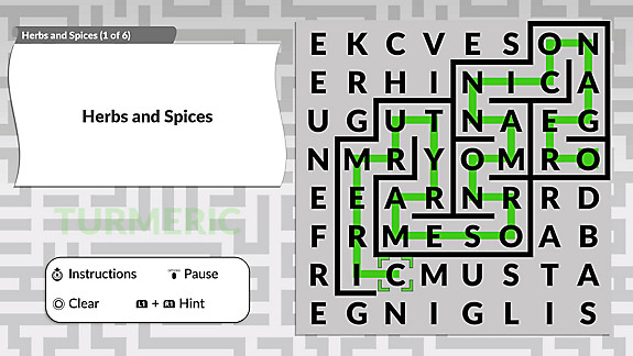 Word Maze by POWGI - Screenshot INDEX