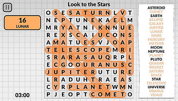 Word Search by POWGI - Screenshot INDEX