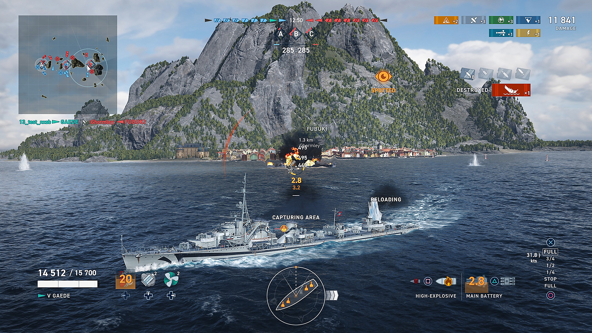 World of Warships: Legends Gameplay