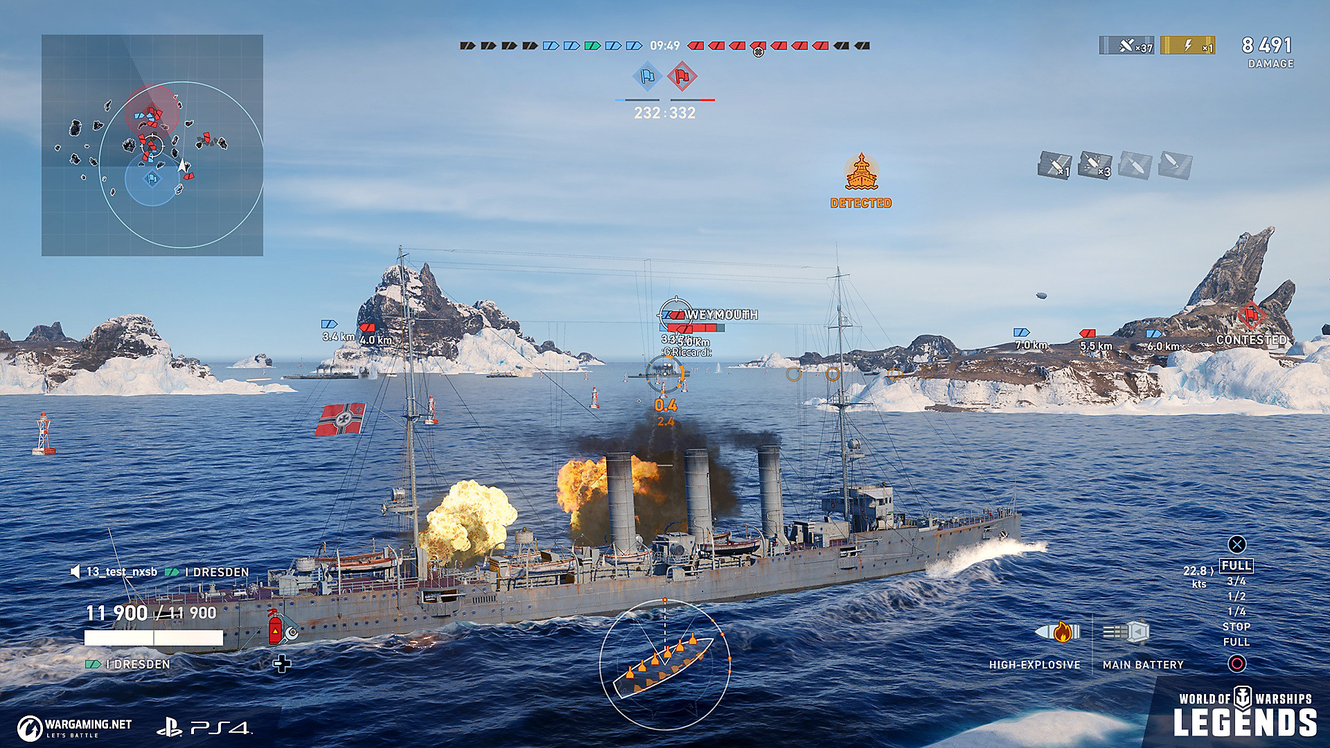 World of Warships: Legends Game   PS4 - PlayStation