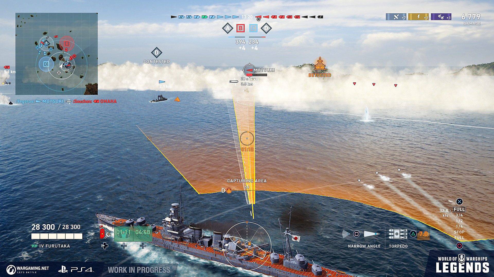 Gameplay de World of Warships: Legends
