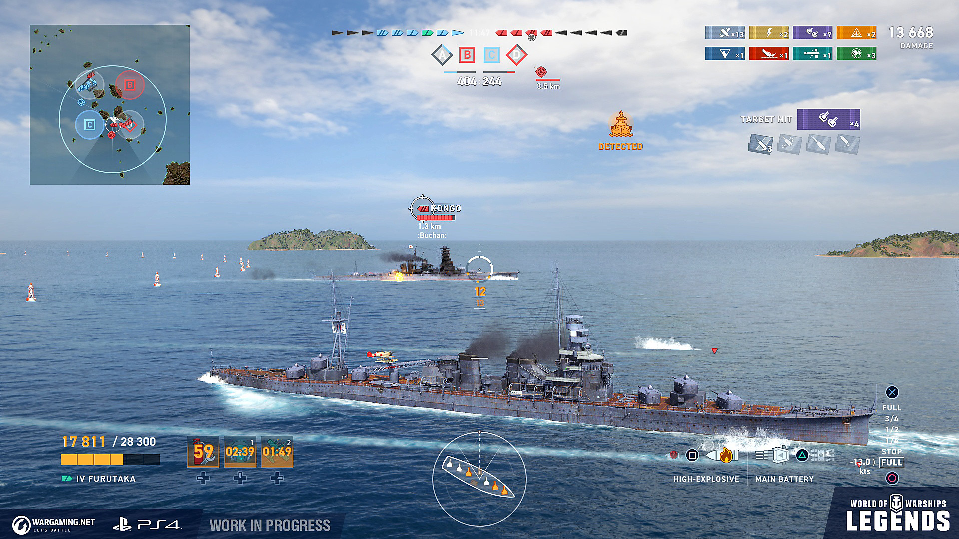 Partida de World of Warships: Legends