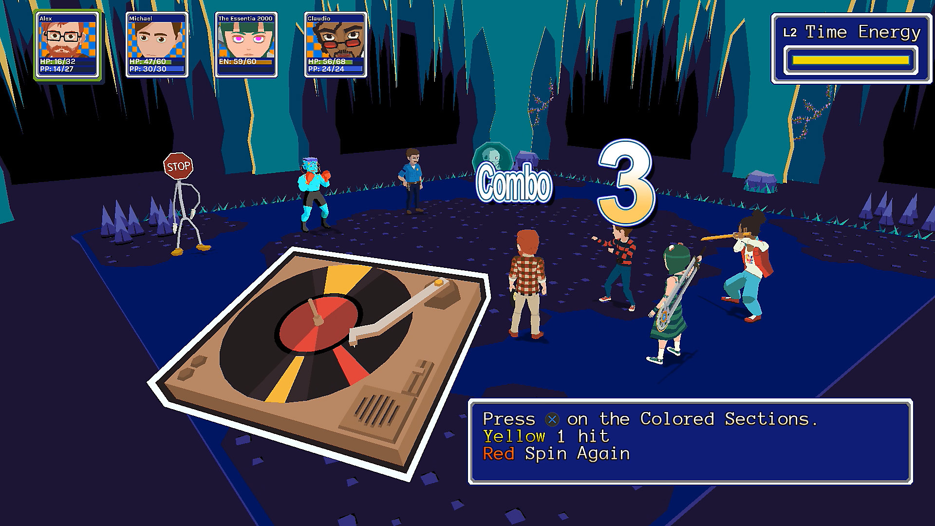 YIIK: A Postmodern RPG Battle Screen