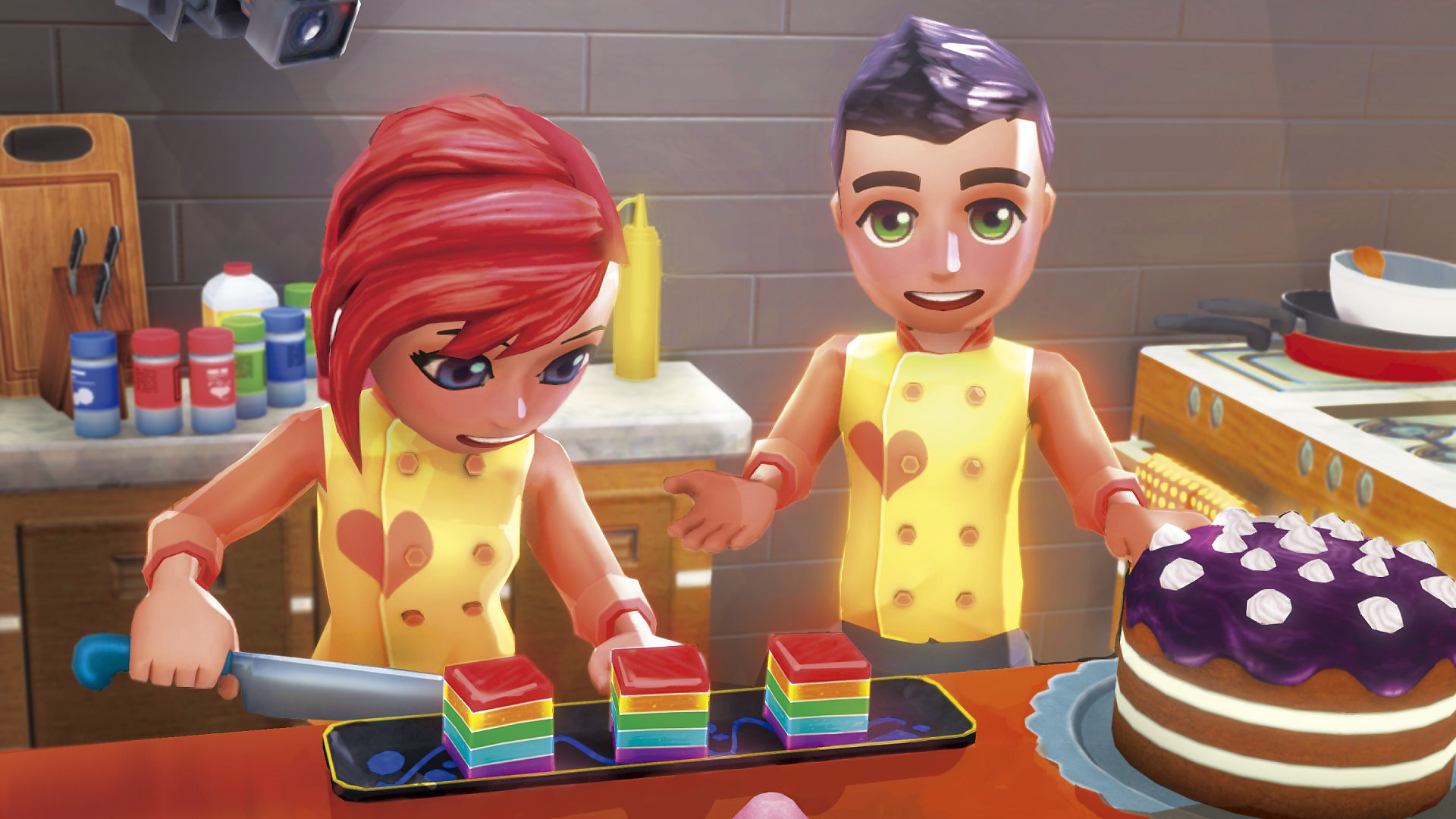Two character baking and decorating